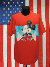 VTG Mickey Unlimited Jerry Leigh XL 3126 Mouse Graphic T Tee Shirt Red Disney MM