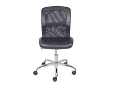 Mainstays Vinyl And Mesh Task Office Chair Armless, Padded Seat Office Furniture