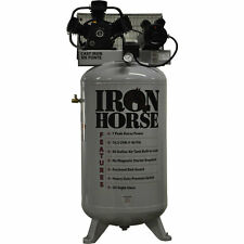 Iron Horse 7-HP 80-Gallon Single Stage Air Compressor (208/230V 1-Phase)