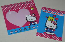 """Hello Kitty """"You Are the Cutest!"""" Valentine Card w/ Envelope - Unsigned"""