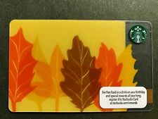 STARBUCKS Card 2013 Colors of Fall / Leaves of Fall - Free Shipping