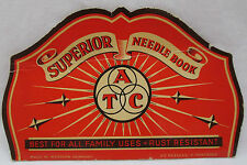 Vintage Superior Needle Book Western Germany Needles ATC Sewing Collectible Red
