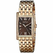 Caravelle New York Women's 44L120 Analog Rose Gold Dress Watch