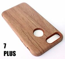 For iPhone 7+ Plus - HYBRID HARD & SOFT RUBBER ARMOR CASE BROWN PLASTIC WOOD