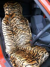 i - TO FIT A SUZUKI SWIFT CAR, S/ COVERS, GOLD TIGER FAUX FUR FULL SET