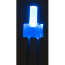 LED Diffused Lens 12V Tower 2mm TTL Compatible Blue 150mcd (3 Pack)