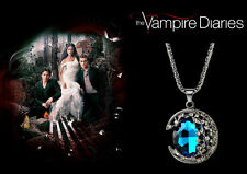 The Vampire Diaries Bonnie Bennett Blue Azurite Crystal, Tungsten Chain/Pendant