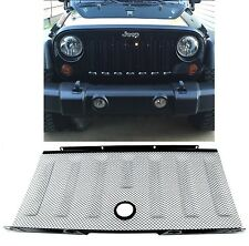 Black Stainless Front Grill 3D Mesh For 2007-2016 Jeep Wrangler JK New Free Ship