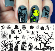BORN PRETTY Nail Art Stamp Plate Halloween Theme Image Template #L031 12.5*6.5cm