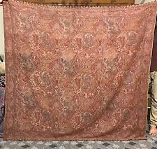 Antique Asian Indian Square 19Th Century Kashmir Wool Shawl Paisley