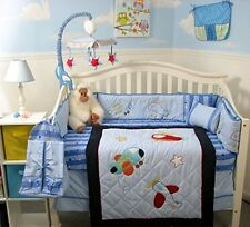 Aviator Adventure Baby Crib Nursery Bedding 13 pcs Set included Diaper Bag