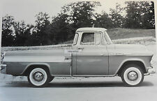"""12 By 18"""" Black & White Picture 1957 Chevrolet Cameo side view"""