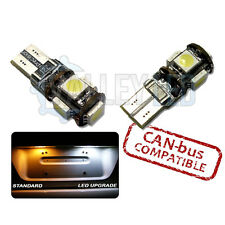 IQ 09-on Bright Canbus LED Number Plate 501 W5W T10 5 SMD White Bulbs