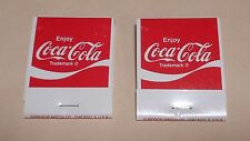 """2 Vintage Coca Cola..Match Packs..Full...""""Enjoy CC-Its the real thing"""""""
