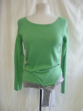 Ladies Jumper - Apart, size 14, green/grey/sequins, 5% cashmere, silk mix 0013