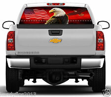 Eagles Flag Stars #02 Rear Window Graphic Tint Truck Stickers Decals