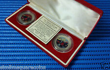 1997 Hong Kong Returns to China 2 pcsTrade Dollar Coin Set by British Royal Mint