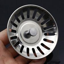 2pc Stainless Steel Kitchen Sink Drain Filter Strainer Plug Drain Waste Disposer