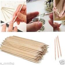 100Pcs Nail Art Orange Wood Stick Cuticle Pusher Remover Pedicure Manicure Tool