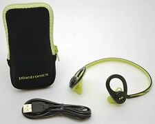 Plantronics Back Beat Fit Wireless Headphones Green Bluetooth Headset iPhone -A-