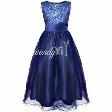 Flower Girls Formal Princess Pageant Wedding Party Dress Bridesmaid Size 12-14