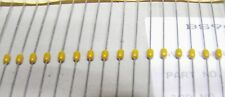 strip of 100 AVX 10000pf 50v axial ceramic capacitor SA105E103Z  10nf 0.01uf