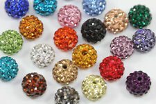 10mm x10 Crystal Clay Pave Disco Ball Round Beads Bracelet Craft Wholesale