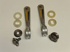 """Vintage Campagnolo - NOS - """"Casati"""" Engraved Shift Levers with attachment pieces"""