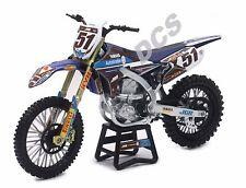 NEWRAY 1/12 JGR YAMAHA YZ450F JUSTIN BARCIA MOTOCROSS DIRT BIKE#51 DIECAST 57713