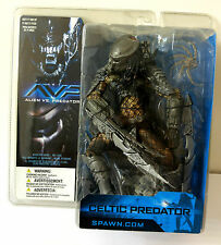 "AVP ALIEN VS PREDATOR CELTIC PREDATOR 7"" ACTION FIGURE MCFARLANE MOVIE MANIACS"