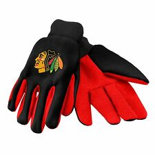 Chicago Blackhawks Gloves Sports Logo Utility Work Garden NEW Colored Palm