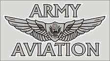 US Army Aviation Sticker *Made in USA* Military Pilot Wing Window Decal Gift