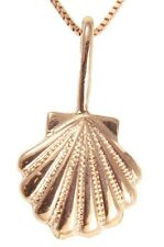 SOLID 14K ROSE PINK GOLD HAWAIIAN 9.75MM SEA SUNRISE SHELL PENDENT CHARM
