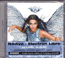 30643//CD ALBUM 13 TITRES--NADIYA--ELECTRON LIBRE--2008 CD NEUF