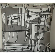 "NEW 16"" Cushion Cover Ikea Furniture Grey Antique Abstract Tables Charcoal Gray"