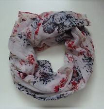 NEW FAT FACE NAVY BLUE RED FLORAL PRINT SCARF