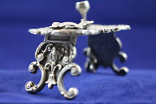 1900-1940 Blow & Co STERLING SILVER MINIATURE FIGURAL MAIDEN CAT FISH TABLE