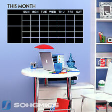 Songmics Chalkboard Calendar Monthly Planner Removable Wall Sticker Decor Paper