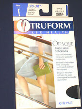 Truform 0362, Women's Compression Stockings,Opaque,Thigh High, Open Toe, 20-30