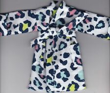 Homemade Doll Clothes-Multi-Colored Cheetah Flannel Robe fit Barbie/Ken/Elf R4