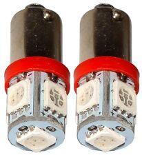 2x ampoule T4W T5W BA9s 12V 5LED SMD rouge éclairage intérieur plaque coffre