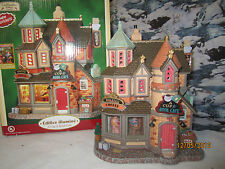 "TRAIN HOUSE VILLAGE BOARDWALK "" The COFFEE CUP & BOOK CAFE "" +DEPT 56/LEMAX info"
