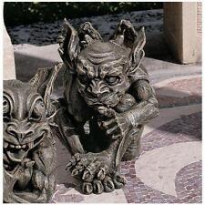 Introvert the Impish Tongue in Cheek Gothic Gargoyle Home Garden Sculpture