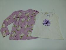 2 Girls 12 Purple Horses & Floral Tank Top Pajama Shirt Lot Great Condition