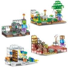 New 4PC Set My World Minecraft MiniFigures Building Toys Crystals version #79272