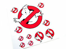 THE REAL GHOSTBUSTERS 'DIE CUT' STICKERS -GHOSTBUSTERS 'NO GHOSTS' LOGO'S SET3