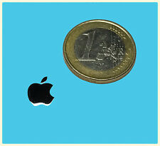 APPLE METALISSED CHROME EFFECT STICKER LOGO AUFKLEBER 8x10mm [450]
