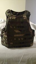 BODY ARMOR VEST WITH TWO 10/12 TRAUMA PADS ADJUSTABLE IN SIZE S To XL CP CAMO