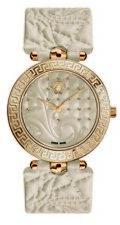 Versace Women's VK7020013 VANITAS Gold IP Steel Beige Leather Wristwatch