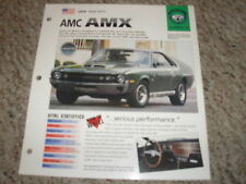 USA 1968-1970 AMC AMX Hot Cars Muscle CarsGroup 4 # 12 Spec Sheet Brochure